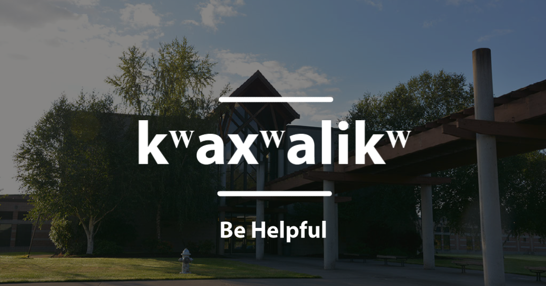 kʷaxʷalikʷ - Be Helpful