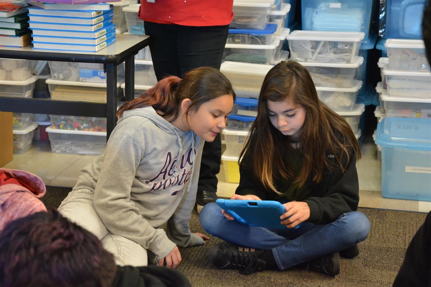 Students learn about coding