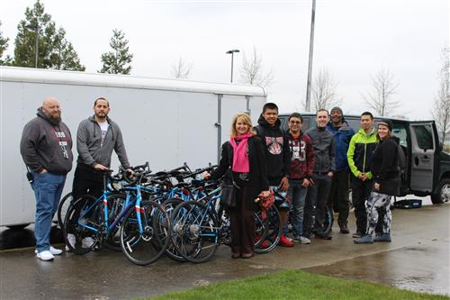 Chief Leschi Schools Receives New Bikes from Major Taylor Project