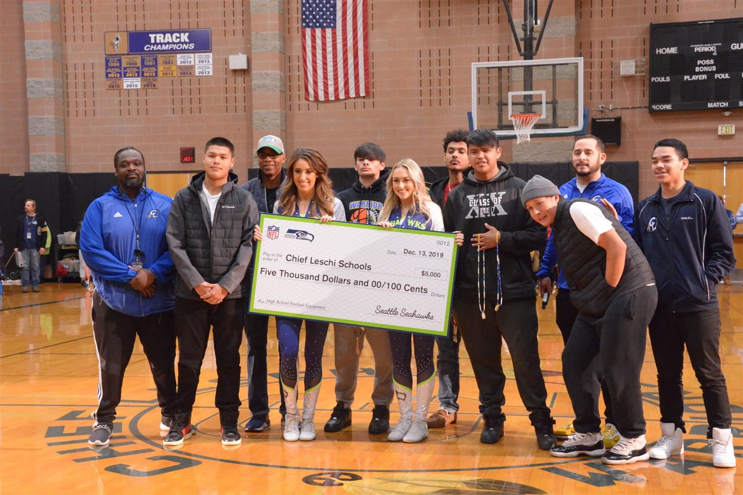 Seattle Seahawks Presents Native American Football Equipment Grant to CLS